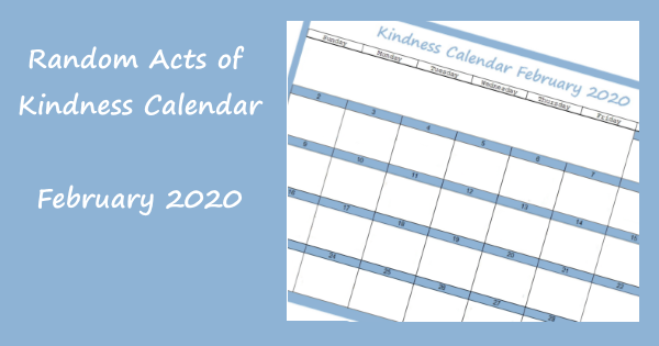 Random Acts of Kindness Calendar February 2020